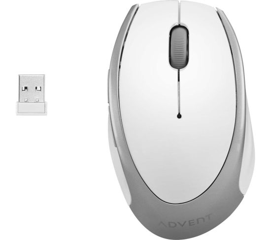 """ADVENT AMWLWH19 Wireless Optical Mouse - White & Silver, White Appliance Deals ADVENT AMWLWH19 Wireless Optical Mouse - White & Silver, White Shop & Save Today With The Best Appliance Deals Online at <a href=""""http://Appliance-Deals.com"""">Appliance-Deals.com</a>"""