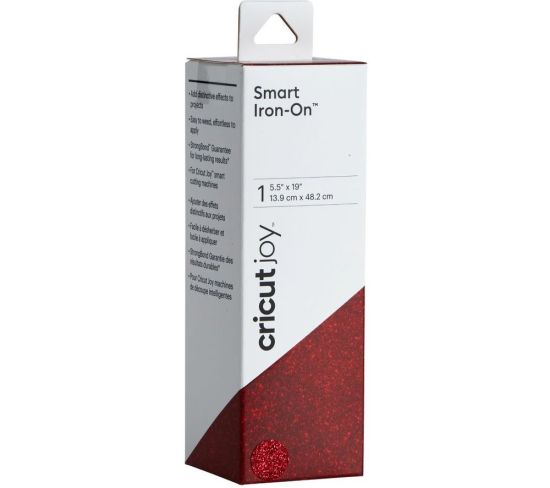 """CRICUT Joy Smart Iron-On Material - Glitter Red, Red Appliance Deals CRICUT Joy Smart Iron-On Material - Glitter Red, Red Shop & Save Today With The Best Appliance Deals Online at <a href=""""http://Appliance-Deals.com"""">Appliance-Deals.com</a>"""