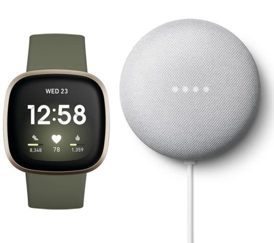 """FITBIT Versa 3 & Chalk Google Nest Mini (2nd Gen) Bundle - Soft Gold & Olive, Gold FITBIT Versa 3 & Chalk Google Nest Mini (2nd Gen) Bundle - Soft Gold & Olive, Gold Shop The Very Best FitBit Sale Deals Online at <a href=""""http://Appliance-Deals.com"""">Appliance-Deals.com</a> <a href=""""https://www.awin1.com/cread.php?awinmid=1599&awinaffid=792795&ued=https%3A%2F%2Fcurrys.co.uk""""><img class="""" wp-image-9780000159235 aligncenter"""" src=""""https://appliance-deals.com/wp-content/uploads/2021/03/curryspcworld_500x500_thumb.png"""" alt=""""fitbit Appliance Deals"""" width=""""112"""" height=""""112"""" /></a>"""