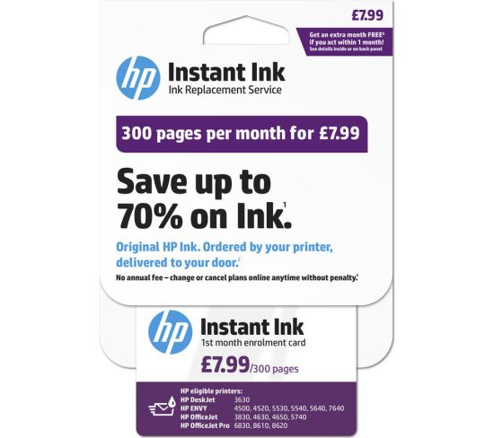 """HP Instant Ink Enrollment card - 300 pages per month Appliance Deals HP Instant Ink Enrollment card - 300 pages per month Shop & Save Today With The Best Appliance Deals Online at <a href=""""http://Appliance-Deals.com"""">Appliance-Deals.com</a>"""