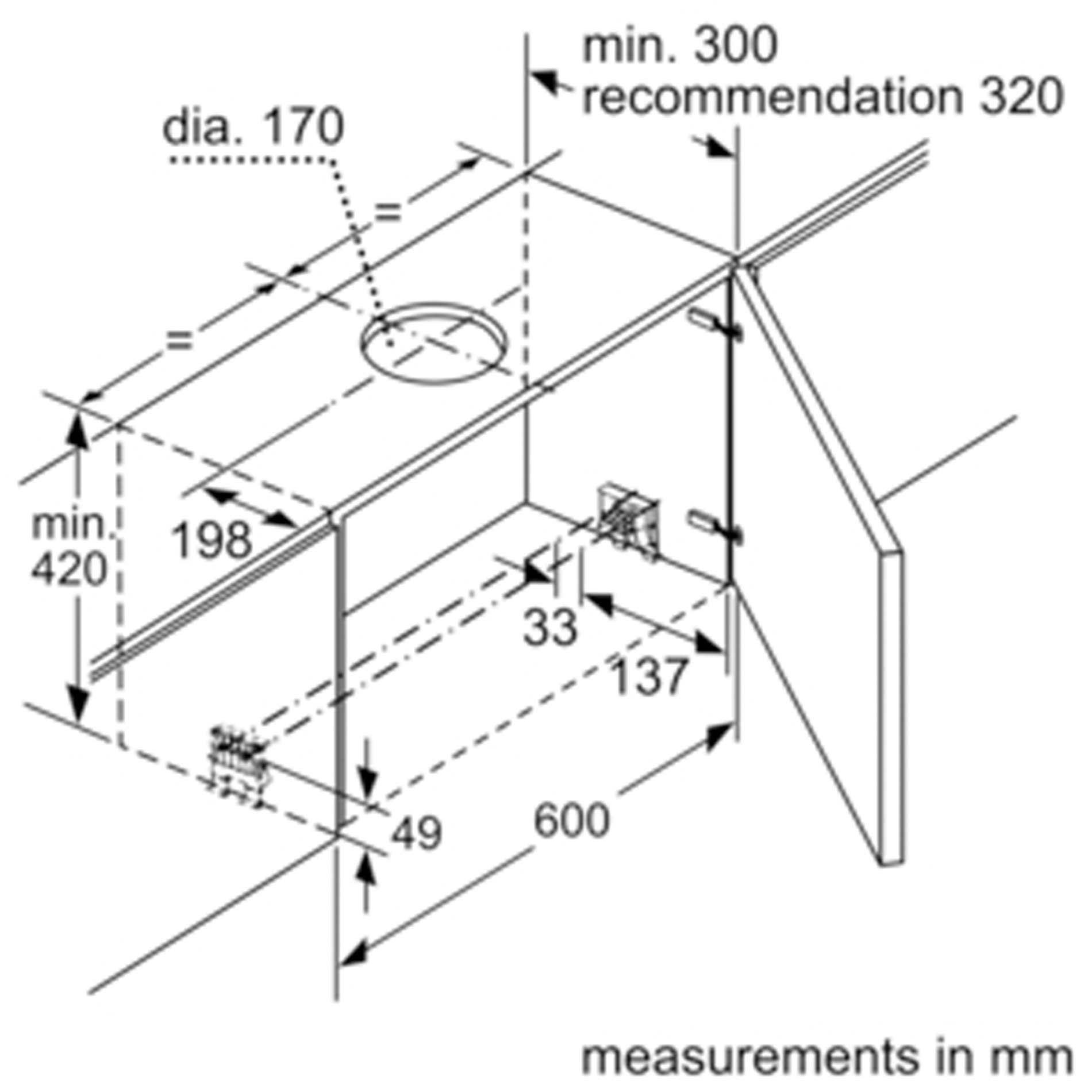 Neff D49ml54n0b Telescopic Hood 90cm Wide