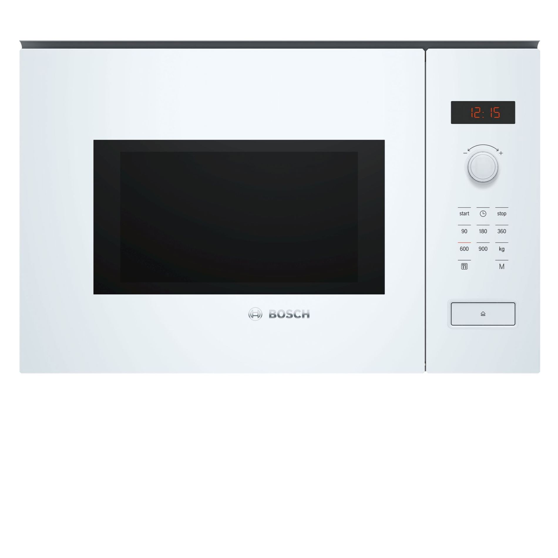 bosch bfl553mw0b white built in microwave oven