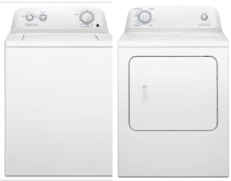 vaw3584gw-ved6505gw clothes washer and clothes dryer set