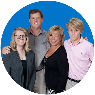 photo of the Straut family, owners of Appliance Repairs Plus