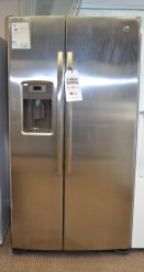 GSE25GSHSS- GE Stainless Steel Side-By-Side Refrigerator - $1099