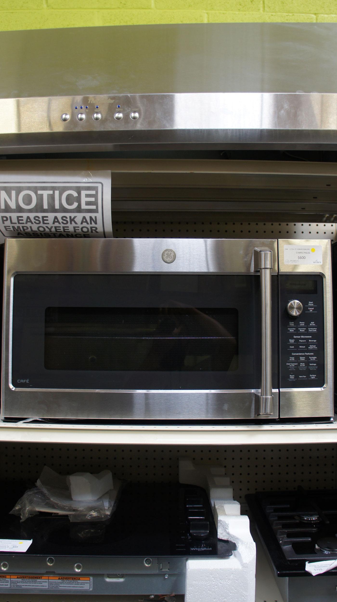 30 ge cafe cvm9179slss 1 7 cu ft over the range microwave