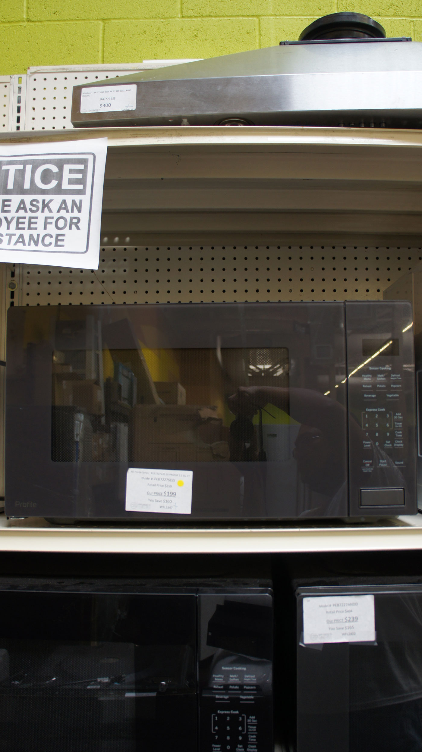2 2 cu ft ge profile peb7227slss built in microwave oven