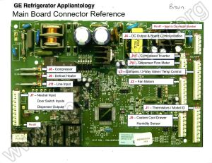 GE Refrigerator Muthaboard  Connector Reference Pictorial View  The Appliantology Gallery