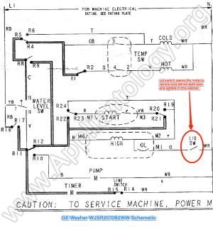 GE Washer WJSR2070B2WW Schematic  The Appliantology