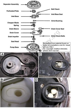 Kitchenaid Powerclean Module Dishwasher Impeller And Check Ball Diagram  The Appliantology