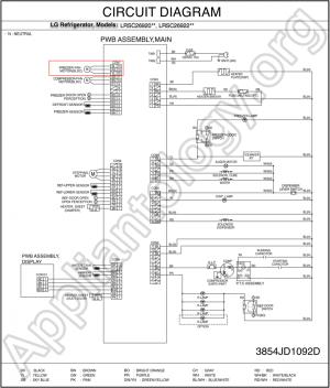 LG Refrigerator LRSC26910 Schematic Diagram  The