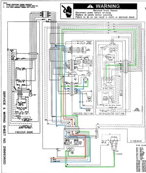 Whirlpool ED25RFXFW01 Refrigerator Wiring Diagram  The