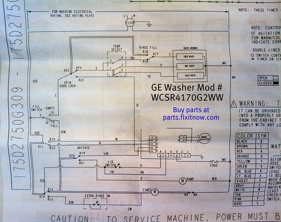 Ge Washer Motor Wiring Diagram Periodic Diagrams Science