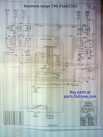 kenmore electric range model 79095682302 schematic diagram