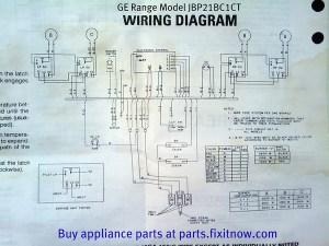 GE Range Model JBP21BC1CT Wiring Diagram | Fixitnow