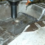 Vacuum mold cutting