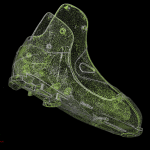 Point cloud of ski boot scan