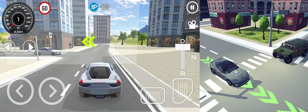 controles y senalización dentro de la app escuela de conducir 3d