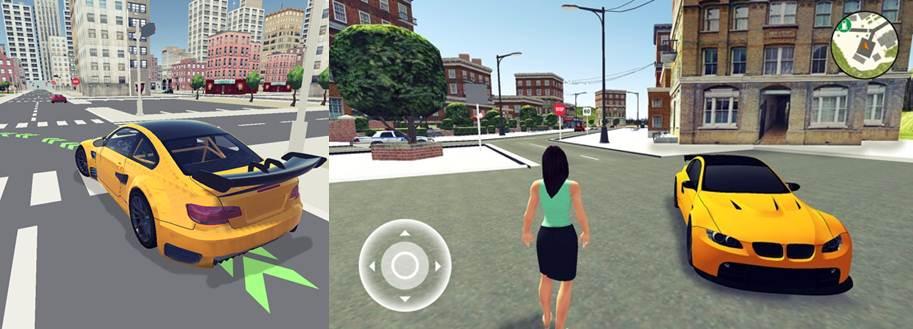 logo y gráficos de la app escuela de conducir 3d