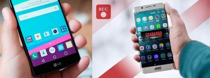 móviles con aplicaciones para grabar pantalla