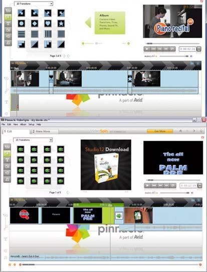 interfaz de pinnacle videospin