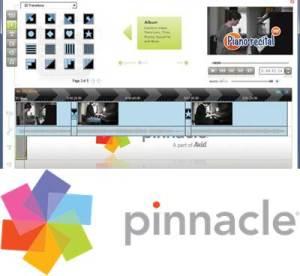 logo e interfaz de pinnacle videospin