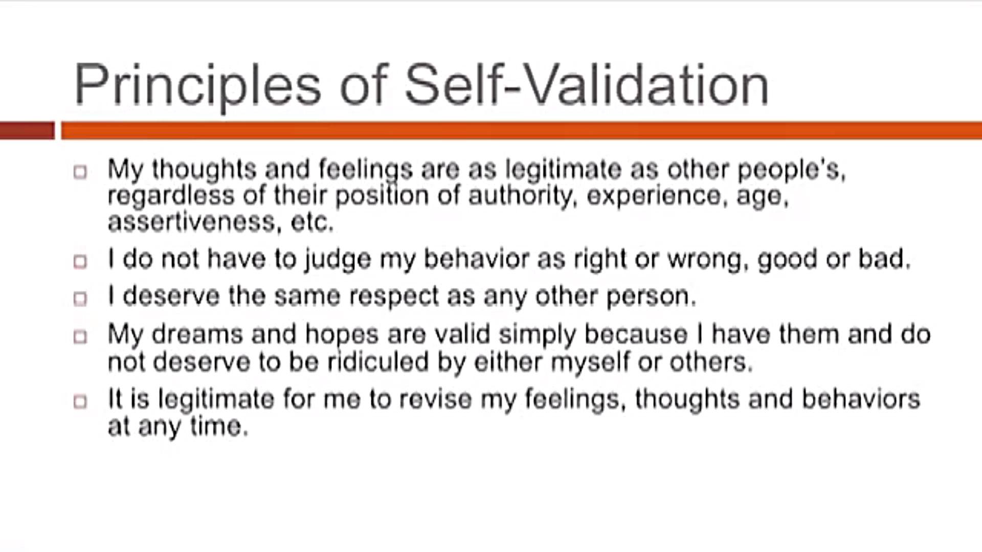 Self Validation Appliedalliance