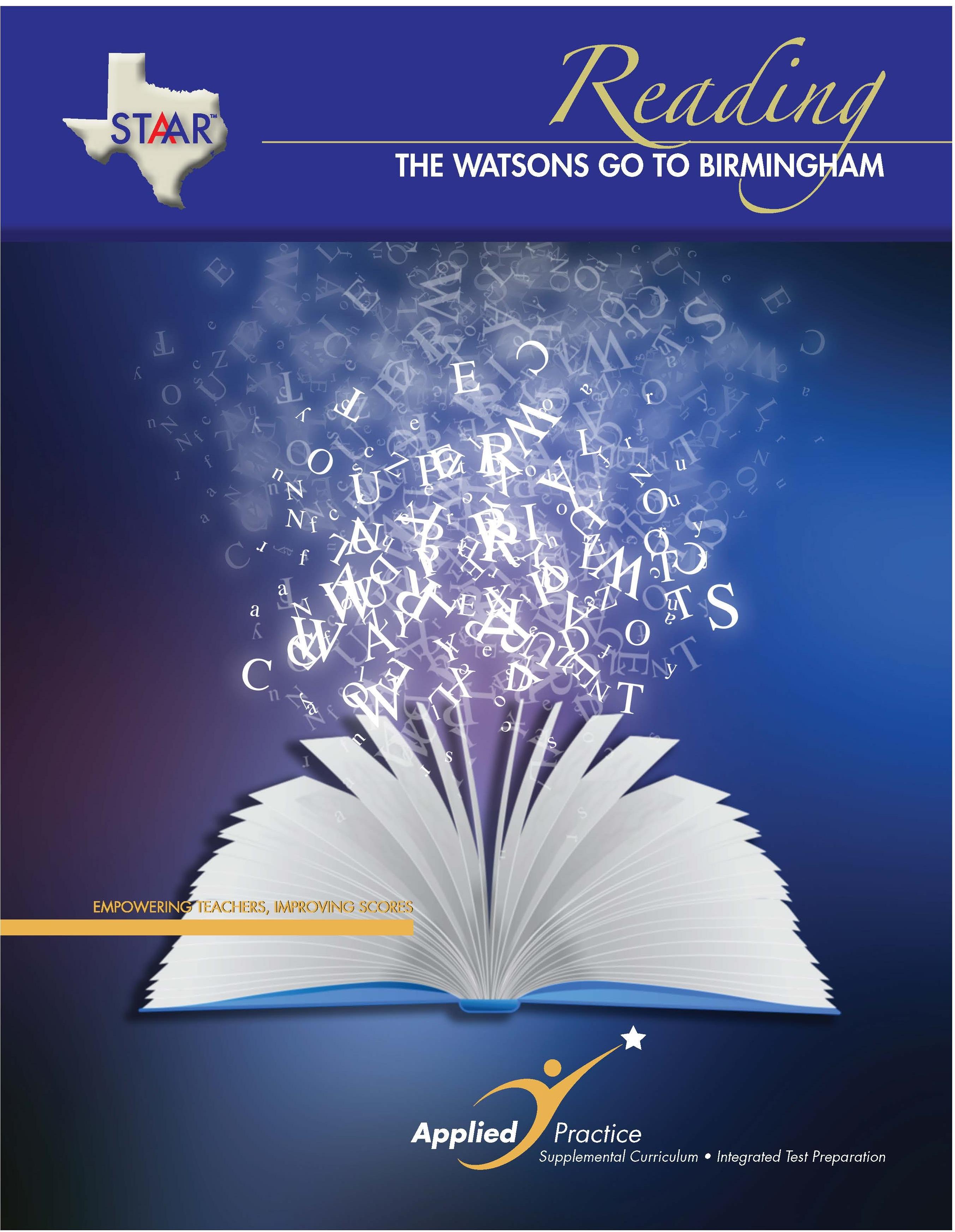 Watsons Go To Birmingham The Staar Reading Teacher