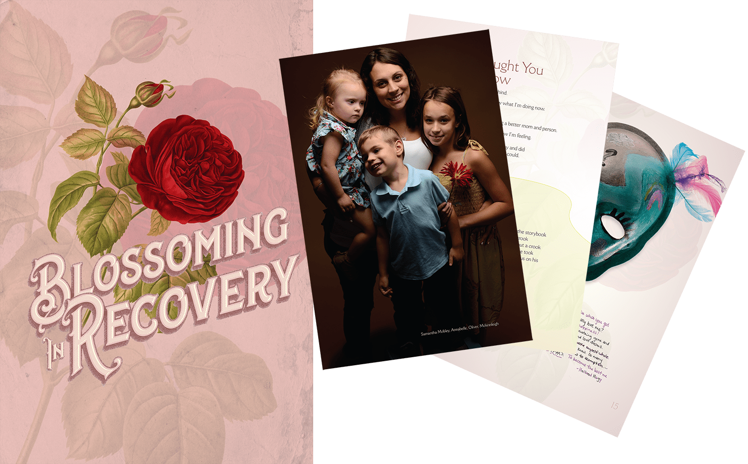 """The Applied Theatre Center partnered with Serenity Place in 2020 to produce """"Blossoming In Recovery"""", which featured writing and art by Serenity Place residents, as well as professional studio photographs of the writers and artists."""