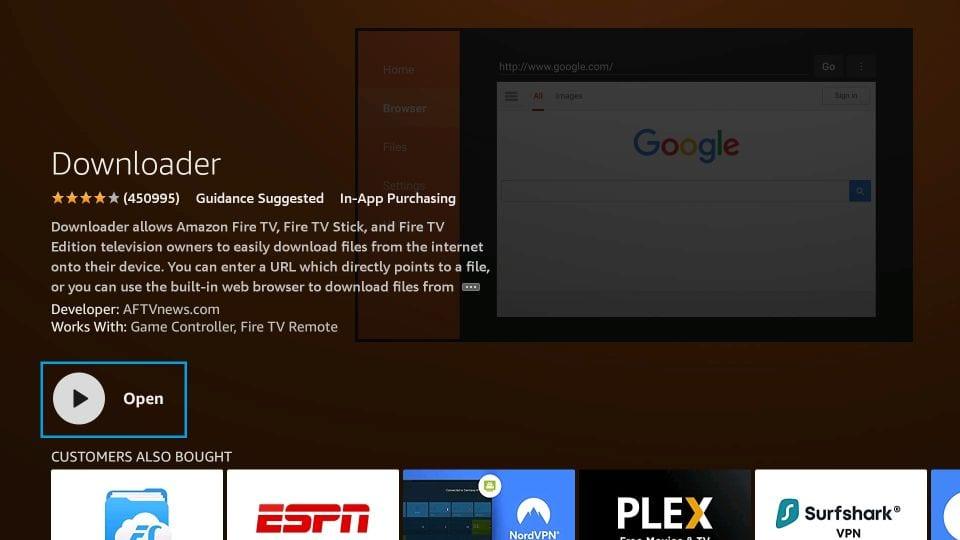 install downloader on firestick