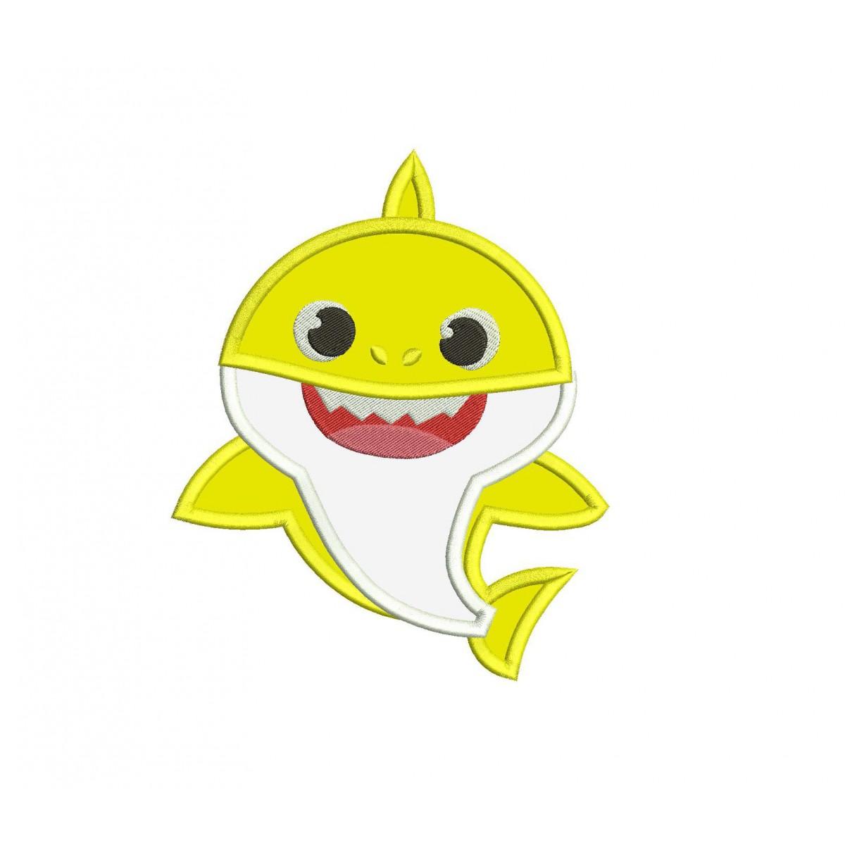 Baby Shark Shark Family Applique Design