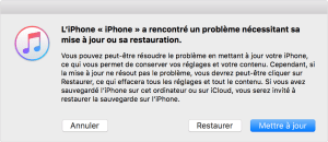 iphone ecran noir itunes recuperation