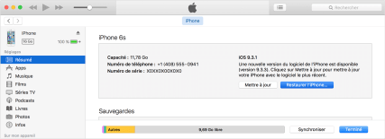 iphone ecran noir itunes restauration