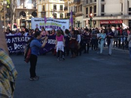 We caught a demonstration by the Feminist Revolution and other equality groups.