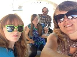 Family selfie on the boat