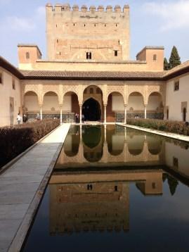 Reflecting pool on the patio de los Arrayanes