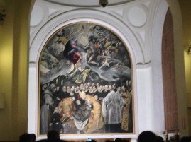 My terribly blurry photo of The Burial of the Count Orgaz...probably because of all the rude people shoving us.