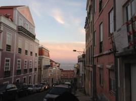 Beautiful sunset in Lisbon