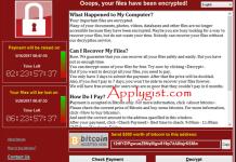 WannaCry Virus message