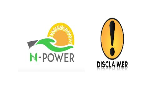 Npower Disclaimer warning