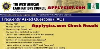 WAEC result 2017 FAQ
