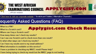 WAEC result 2017 FAQ
