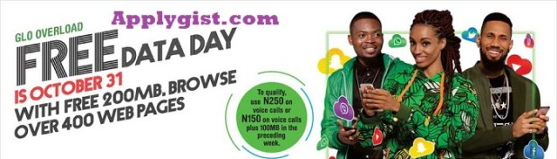 Glo Free Data Day October