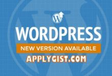 Upgrade New Version WordPress 4.9.5