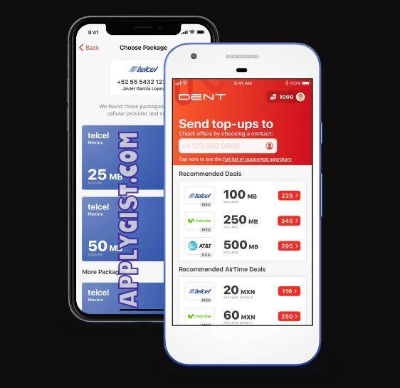 Dent Free Mobile Data App aplygist.com