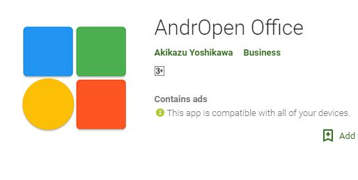 New AndrOpen Office Downloads
