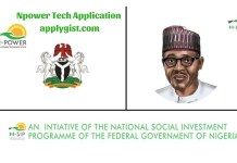 Npower Tech Application for September 2018 Open