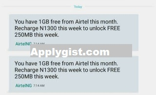 Airtel Recharge Plus 1GB Data