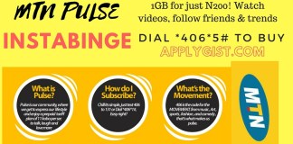 1GB for just N200 Applygist.com MTN Pulse Instabinge