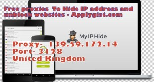 Free proxies To Hide IP address and unblock websites